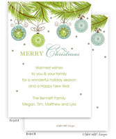 Take Note Designs Digital Holiday Invitations/Greeting Cards - Ornament Drop (TND-A-97746)
