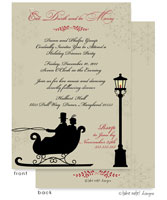 Take Note Designs Digital Holiday Invitations/Greeting Cards - Vintage Sleigh Ride (TND-A-97748)