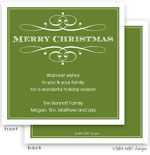 Take Note Designs Digital Holiday Invitations/Greeting Cards - Elegant Christmas Green (TND-A2-97413)