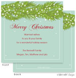Take Note Designs Digital Holiday Invitations/Greeting Cards - Bough and Stars (TND-A2-97414)