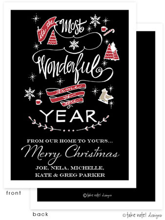 Take Note Designs Digital Holiday Invitations/Greeting Cards - Most Wonderful Time Holiday (TND-A-97760)