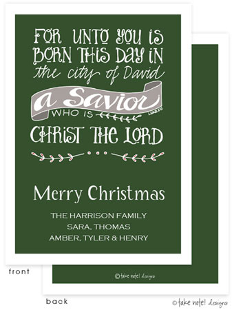 Take Note Designs Digital Holiday Invitations/Greeting Cards - City of David Green (TND-A-97761)