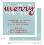 Take Note Designs Digital Holiday Invitations/Greeting Cards - Wishing You a Merry Christmas Snow (TND-A2-97420)