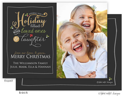 Take Note Designs Digital Holiday Photo Cards - Holiday Greeting Cheer (TND-Q2-99318)