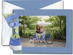 William Arthur Holiday Photo Cards - Debossed Blue (#29-100115)