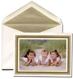 William Arthur Holiday Photo Cards - Gold Beaded Border (#29-100220)