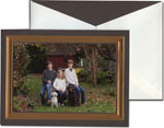 William Arthur Holiday Photo Cards - Hammered Copper Frame on Cocoa (#29-100248)