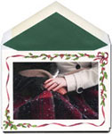 William Arthur Holiday Photo Cards - Holly and Ribbon Frame (#29-100304)