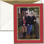 William Arthur Holiday Photo Cards - Gold Bordered & Scarlet (29-42662)