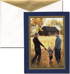 William Arthur Holiday Photo Cards - Gold Border Navy (29-58507)