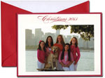 William Arthur Holiday Photo Cards - Scarlet Red Bordered Christmas 2013 (#29-98113-98239)
