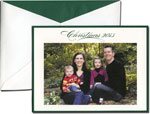 William Arthur Holiday Photo Cards - Forest Green Bordered Christmas 2013 (#29-98127)