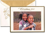 William Arthur Holiday Photo Cards - Gold Bordered Christmas 2013 (#29-98141-98253)