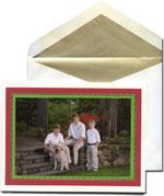 William Arthur Holiday Photo Cards - Scarlet & Vivid Green (29-98155)