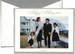 William Arthur Holiday Photo Cards - Silver Bordered Happy Holidays 2013 (#29-98162)