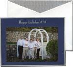 William Arthur Holiday Photo Cards - Happy Holidays 2013 on Navy (#29-98190)