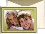 William Arthur Holiday Photo Cards - Celery Inlaid Frame (#29-98666)