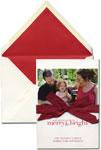 Vera Wang Holiday Photo Cards - Oyster White (#53-102516)