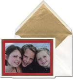 Vera Wang Holiday Photo Cards - Crimson Layered (#53-72563)