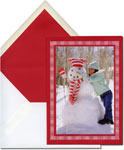 Vera Wang Holiday Photo Cards - Chime Border on Scarlet (#53-92254)
