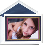 William Arthur Holiday Photo Cards - Navy And Orchid Frame (#29-106457)
