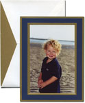 William Arthur Holiday Photo Cards - Navy And Gold (#29-106458)