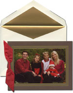 William Arthur Holiday Photo Cards - Chocolate And Gold Frame (#29-106460)