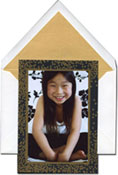 Vera Wang Holiday Photo Cards - Gold Confetti (#53-106400)