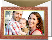 William Arthur Holiday Photo Mount Cards - Gold Swirls (#29-106625)