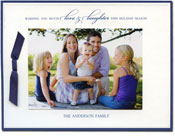 William Arthur Holiday Photo Cards - Navy and Embossed Border (#29-106627)