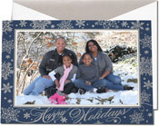 William Arthur Holiday Photo Mount Cards - Silver Snowflakes (#29-106629)