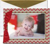 William Arthur Holiday Photo Mount Cards - Playful Chevron (#29-106651)