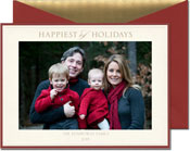 William Arthur Holiday Photo Cards - Red and Embossed Border (#29-106665)