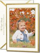 Vera Wang Holiday Photo Cards - Gold Border (#53-106508)