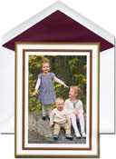 William Arthur Holiday Photo Mount Cards - Claret and Gold Frame
