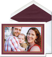 William Arthur Holiday Photo Mount Cards - Scarlet And Burgundy