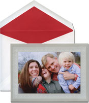 William Arthur Holiday Photo Mount Cards - Tracery On Grey