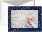 William Arthur Holiday Photo Mount Cards - Silver Winter Stars