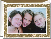 William Arthur Holiday Photo Mount Cards - Gold Dots