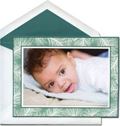 William Arthur Holiday Photo Mount Cards - Teal Spruce