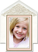 William Arthur Holiday Photo Mount Cards - Blush And Gold