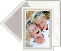 Vera Wang Holiday Photo Mount Cards - Platinum Stripe