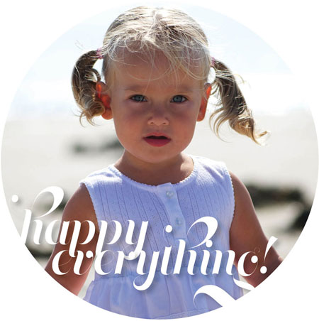 iDesign Digital Holiday Photo Cards - Happy Everything (Happy Everything)