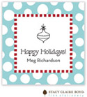 Stacy Claire Boyd - Holiday Calling Cards (Funky Dot - Aqua - Folded)