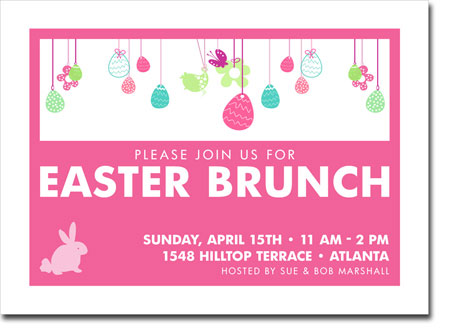 Noteworthy Collections - Digital Holiday Invitations (Easter Egg Fun Pink) (ID-401)