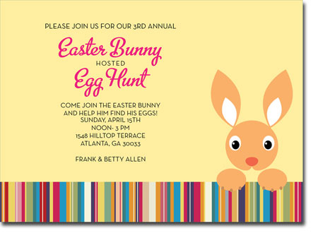 Noteworthy Collections - Digital Holiday Invitations (Hoppy Easter) (ID-402)