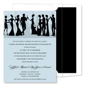 Noteworthy Collections - Holiday Invitations (Silhouette New Years Formal Grey)