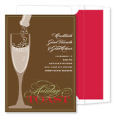 Noteworthy Collections - Holiday Invitations (Bubbly Champagne Chocolate)