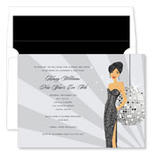 Noteworthy Collections - Holiday Invitations (New Year's Eve Girl - Asian)