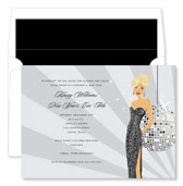 Noteworthy Collections - Holiday Invitations (New Year's Eve Girl - Blonde)